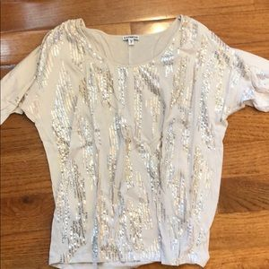 Express Cream Sparkle Shirt